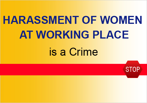 Sexual harassment at work bill india